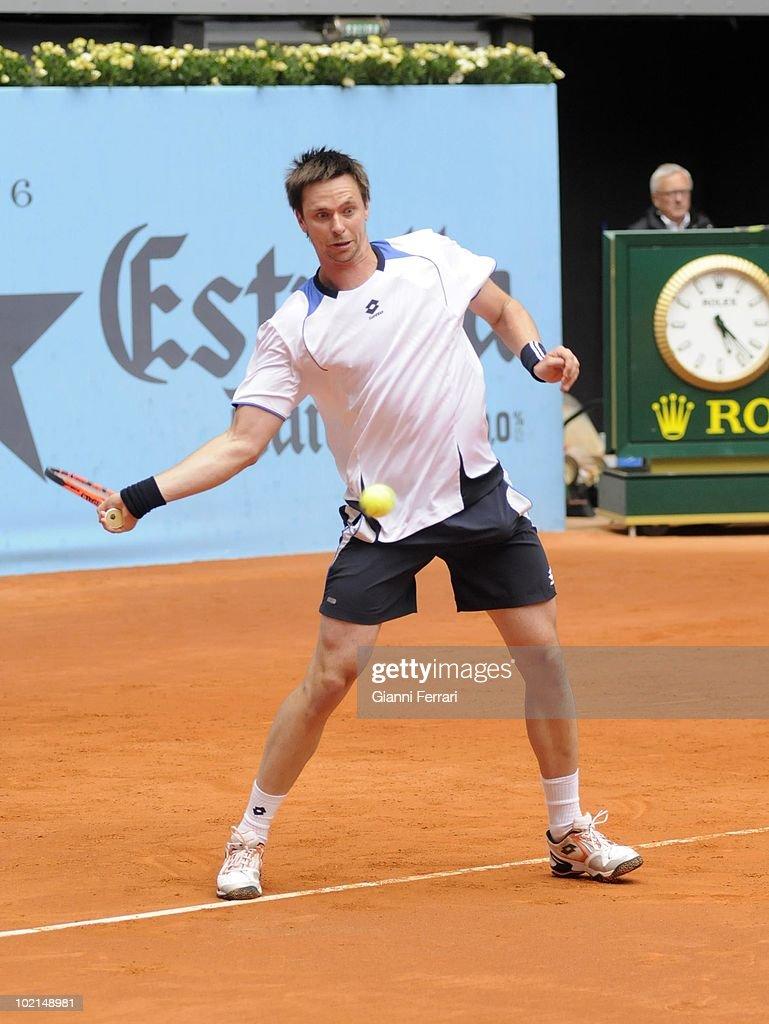 Robin Soderling, SUE, in the tennis 'Mutua Madrilena Madrid Open', 8th May2010, 'La Caja Magica', Madrid, Spain.