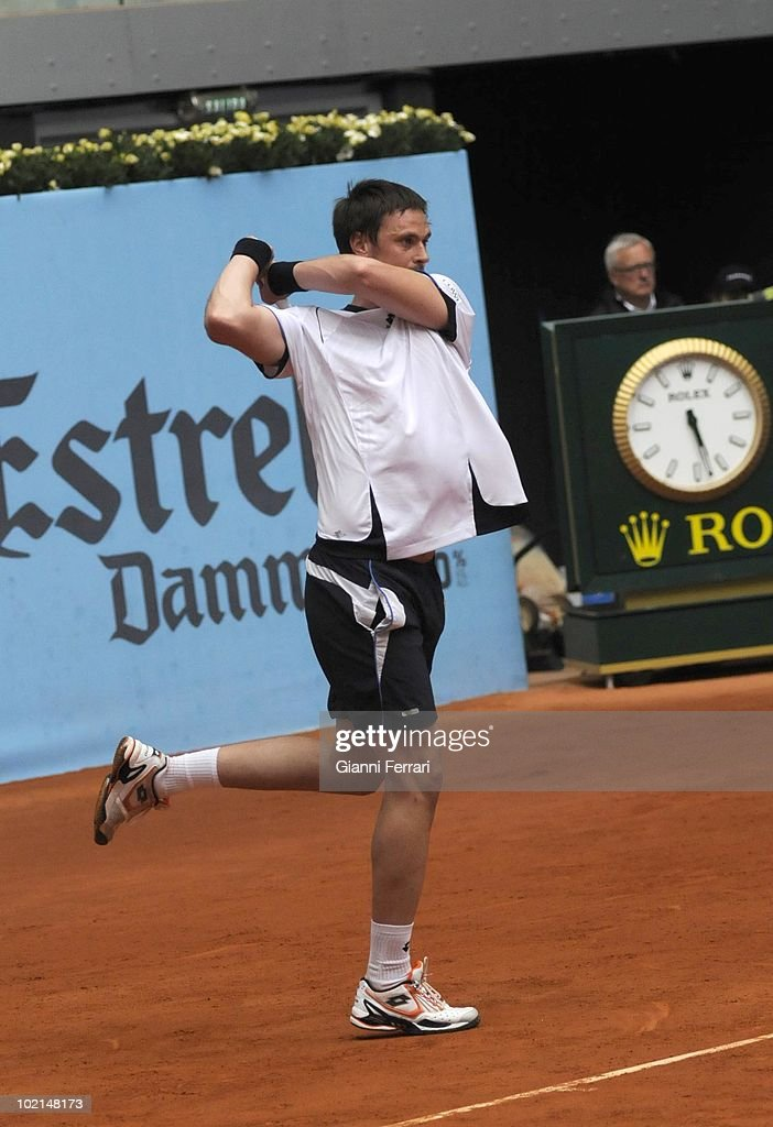 Robin Soderling, SUE, in the tennis 'Mutua Madrilena Madrid Open', 8th May 2010, 'La Caja Magica', Madrid, Spain.
