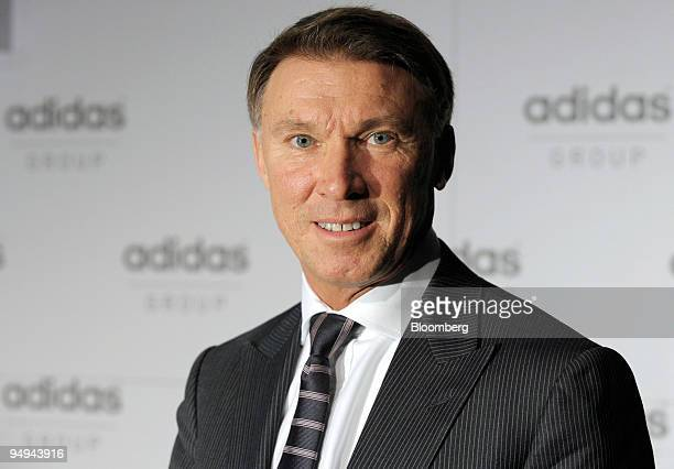 Robin Stalker, chief financial officer of Adidas AG, poses prior to the presentation of the company's 2008 results at a news conference in...