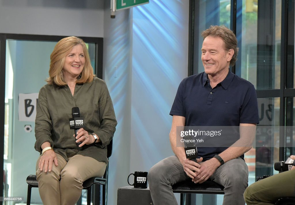 Robin Swicord (L) and Bryan Cranston attend Build series to discuss their new film 'Wakefield' at Build Studio on May 19, 2017 in New York City.
