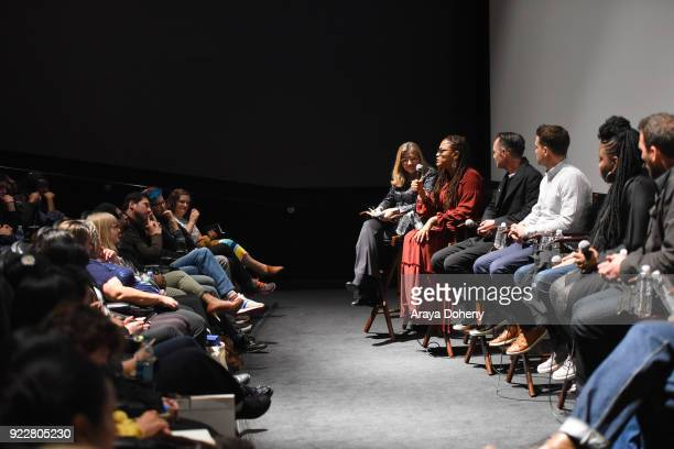 Robin Swicord Ava DuVernay Tobias Schliessler Ramin Djawadi Kimberly Kimble Richard McBride Alison Taylor JP Jones and Aisha Coley attend the Film...