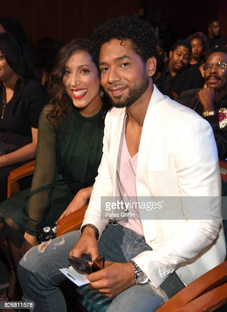 Robin Thede and Jussie Smollett attend Black Girls Rock 2017 Pre Reception at NJPAC on August 5 2017 in Newark New Jersey