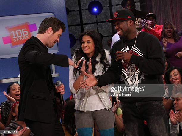 Robin Thicke 106 Park host Rocsi and 50 Cent visit BET's 106 Park at BET Studios on November 19 2009 in New York City