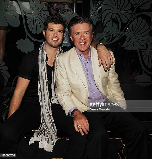 Robin Thicke and Alan Thicke attend The Bank nightclub at Bellagio Las Vegas on June 19 2009 in Las Vegas Nevada