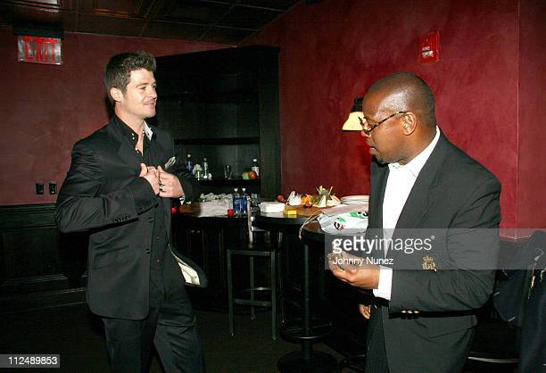 Robin Thicke and Andre Harrel during Vh1 Global Fund Dinner at Stout NYC in New York City New York United States
