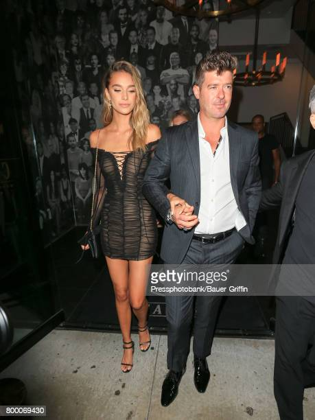 Robin Thicke and April Love Geary are seen on June 22 2017 in Los Angeles California