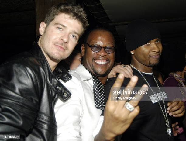 Robin Thicke Andre Harrell and Usher during Nia Long's Birthday Celebration at Cain November 8 2005 at Cain in New York City New York United States