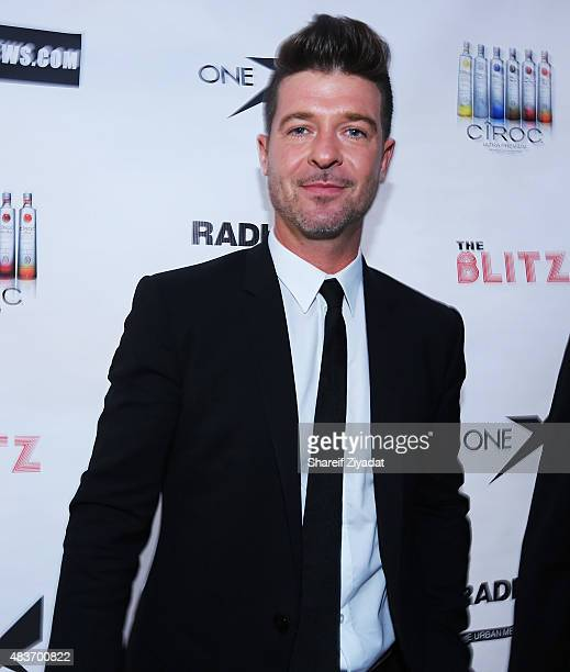 Robin Thicke at Stage 48 on August 11 2015 in New York City