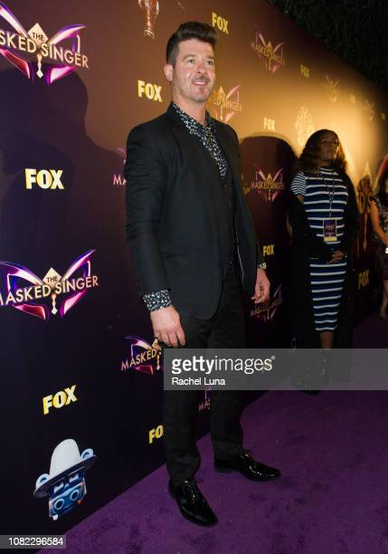 Robin Thicke attends Fox's 'The Masked Singer' Premiere Karaoke Event at The Peppermint Club on December 13 2018 in Los Angeles California