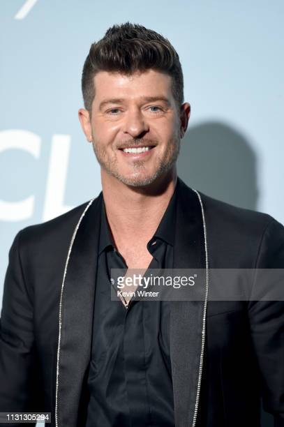 Robin Thicke attends the 2019 Hollywood For Science Gala at Private Residence on February 21 2019 in Los Angeles California