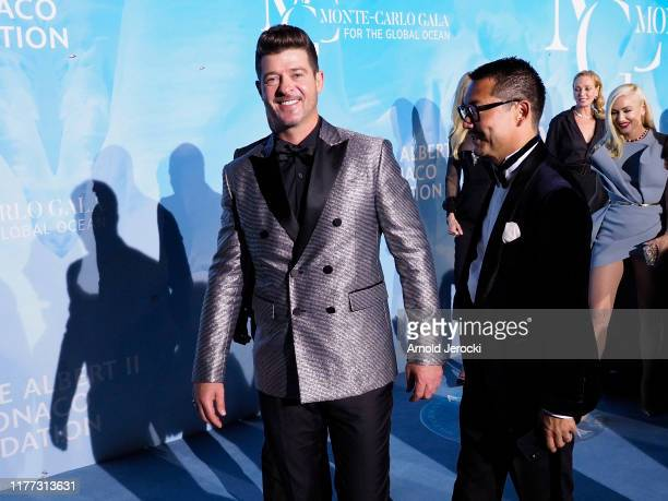 Robin Thicke attends the Gala for the Global Ocean hosted by H.S.H. Prince Albert II of Monaco at Opera of Monte-Carlo on September 26, 2019 in...