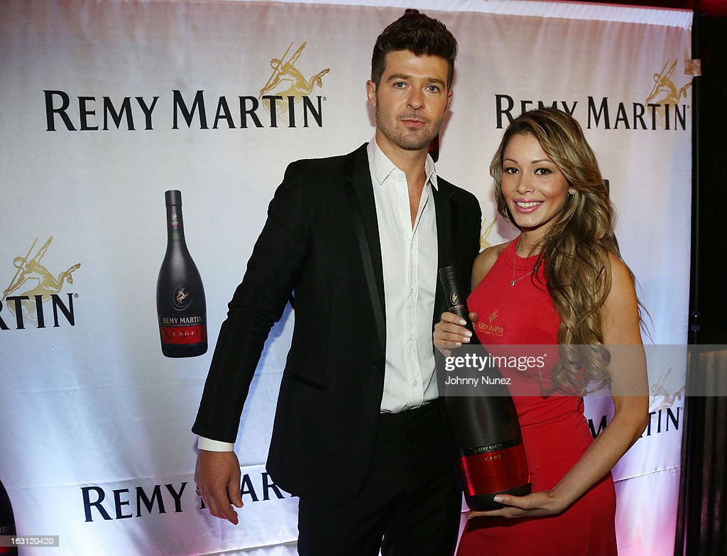 Robin Thicke (L) attends the Remy Martin V.S.O.P Ringleader Culmination Event with Robin Thicke at Marquee on March 4, 2013 in New York City.