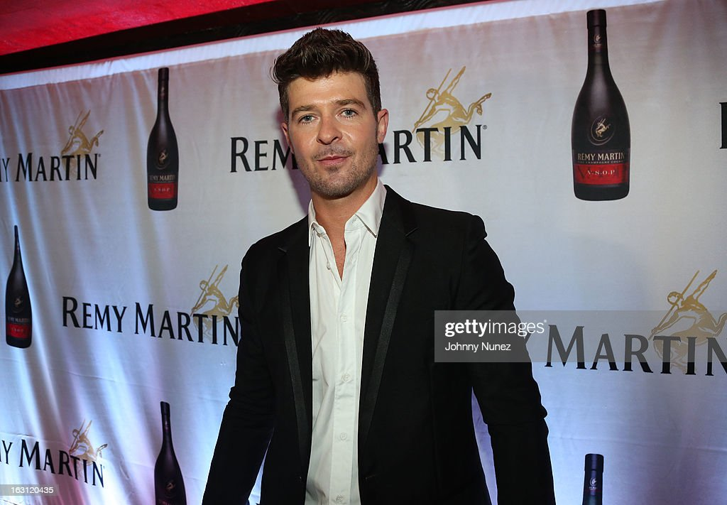 Robin Thicke attends the Remy Martin V.S.O.P Ringleader Culmination Event with Robin Thicke at Marquee on March 4, 2013 in New York City.