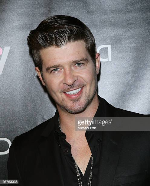 Robin Thicke attends the Vida launch party at Voyeur on January 13 2010 in West Hollywood California