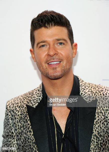 Robin Thicke attends Z100's Jingle Ball 2013 presented by Aeropostale at Madison Square Garden on December 13 2013 in New York City
