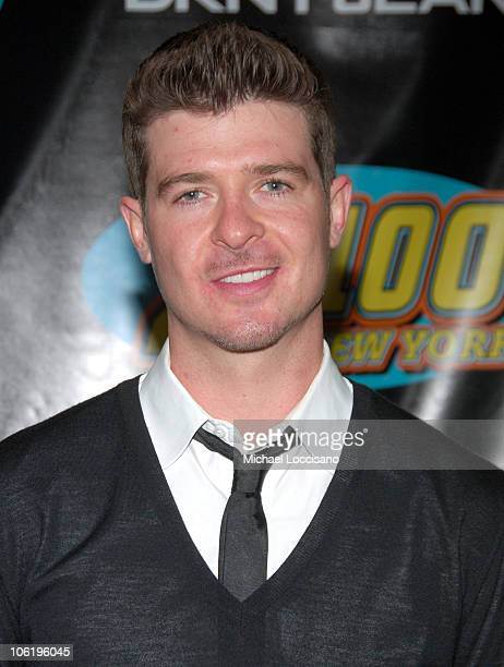 Robin Thicke during Z100's Zootopia 2007 - Press Room at Nassau Colliseum in New York City, New York, United States.
