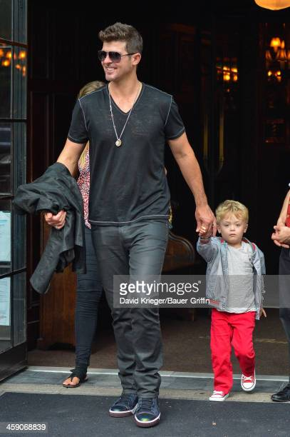 Robin Thicke is seen with his son Julian Fuego Thicke on July 18 2013 in New York City