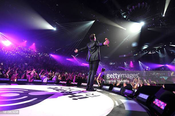 Robin Thicke performs onstage during the iHeartRadio Music Festival at the MGM Grand Garden Arena on September 20, 2013 in Las Vegas, Nevada.
