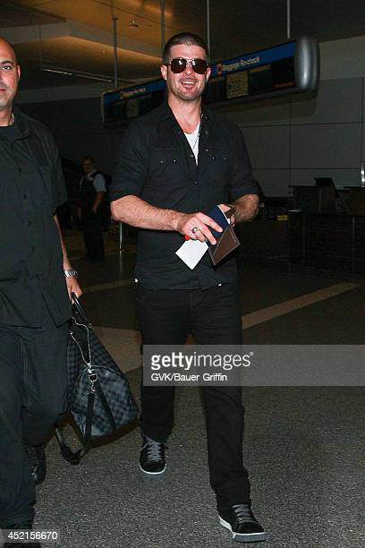 Robin Thicke seen at LAX on July 14 2014 in Los Angeles California