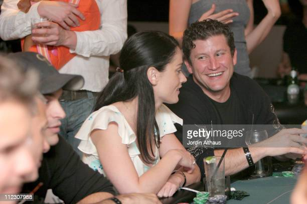 Robin Tunney and Darin Feinstein during Pokerroomcom and the Viper Room Hosts The Style Lounge Celebrity Poker Tournament Benefiting Youthaids at...
