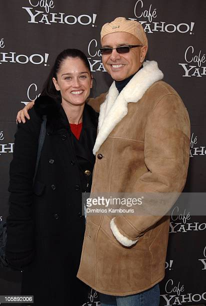 Robin Tunney and Joe Pantoliano during 2006 Park City Cafe Yahoo and W Hotel Lounge at Village at the Lift Day 2 at Village at the Lift in Park City...