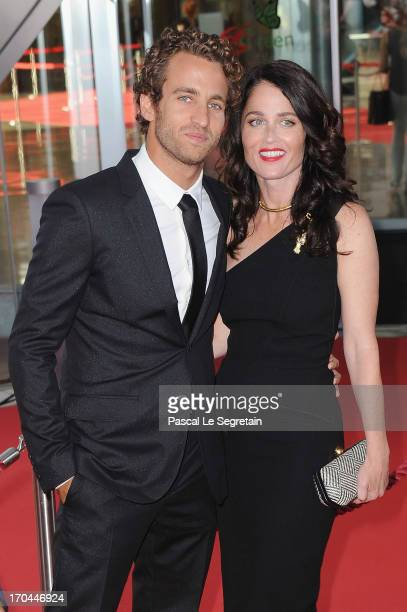 Robin Tunney and Nicky Marmet attend the closing ceremony of the 53rd Monte Carlo TV Festival on June 13 2013 in MonteCarlo Monaco