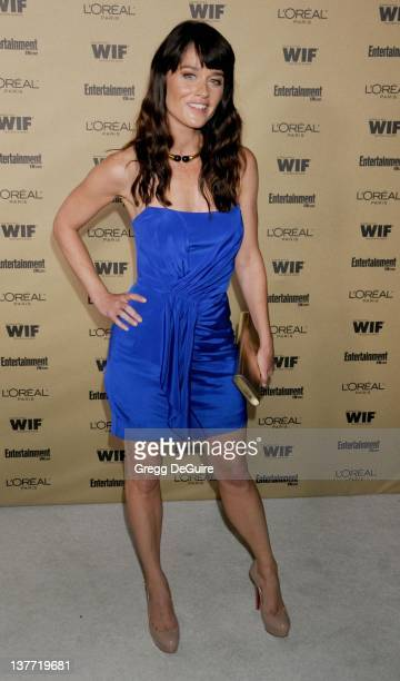 Robin Tunney arrives at the Entertainment Weekly and Women In Film PreEmmy Party at the Restaurant at the Sunset Marquis Hotel on August 27 2010 in...