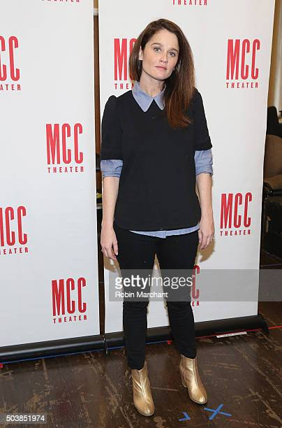 Robin Tunney attends Smokefall Press Preview at MTC Rehearsal Studios on January 7 2016 in New York City