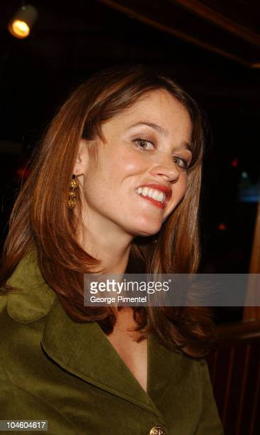 Robin Tunney during 2002 Sundance Film Festival Cherish Party at Cisero's Restaurant in Park City Utah United States