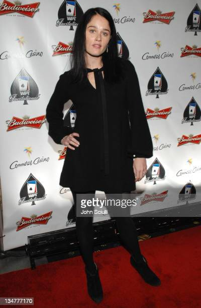 Robin Tunney during 2007 World Poker Tour Celebrity Invitational Red Carpet at Commerce Casino in Commerce California United States