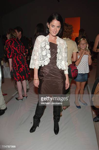 Robin Tunney during Olympus Fashion Week Spring 2007 Nicole Miller Backstage at The Promenade in New York City United States