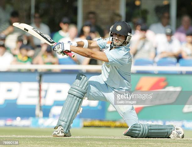 Robin Uthappa during the final match of the ICC Twenty20 World Cup between Pakistan and India held at the Wanderers Cricket Stadium on September 24,...