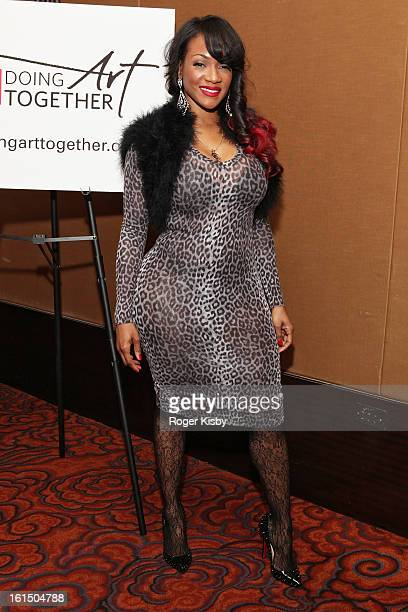 Robin V attends Doing Art Together Honors Swizz Beats and Dr George Williams at Mandarin Oriental Hotel on February 11 2013 in New York City