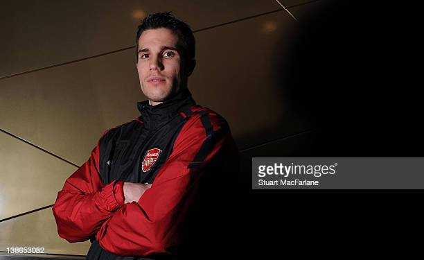 Robin van Persie of Arsenal poses during a portrait session at Emirates Stadium on February 11, 2011 in London, England.