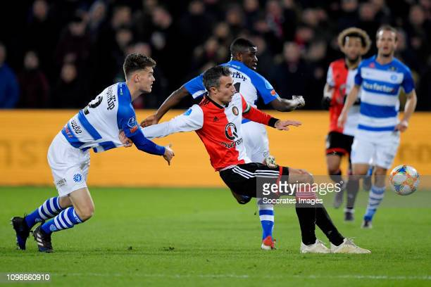Robin van Persie of Feyenoord Azor Matusiwa of De Graafschap during the Dutch Eredivisie match between Feyenoord v De Graafschap at the Stadium...