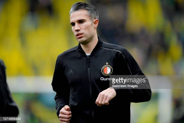 Robin van Persie of Feyenoord during the Dutch Eredivisie match between ADO Den Haag v Feyenoord at the Cars Jeans Stadium on December 23 2018 in Den...