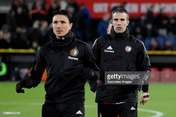 Robin van Persie of Feyenoord during the Dutch Eredivisie match between Feyenoord v De Graafschap at the Stadium Feijenoord on February 9 2019 in...