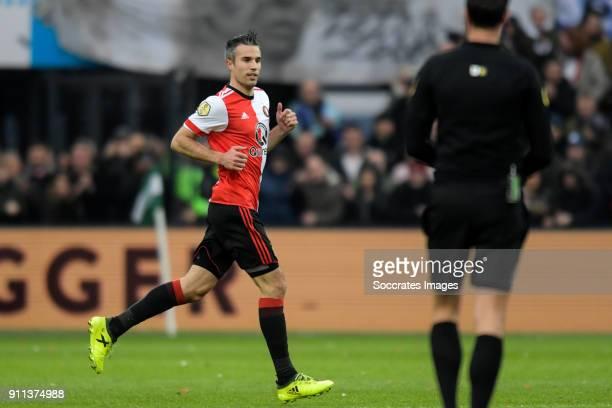 Robin van Persie of Feyenoord during the Dutch Eredivisie match between Feyenoord v ADO Den Haag at the Stadium Feijenoord on January 28 2018 in...