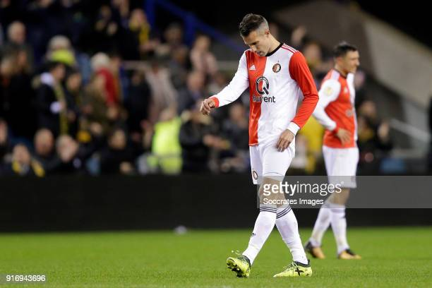 Robin van Persie of Feyenoord during the Dutch Eredivisie match between Vitesse v Feyenoord at the GelreDome on February 11 2018 in Arnhem Netherlands