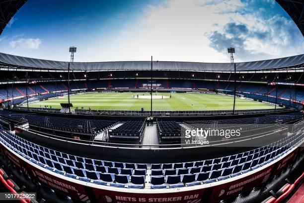 Robin van Persie of Feyenoord during the UEFA Europa League match between Feyenoord v FK AS Trencin at the Stadium Feijenoord on August 16 2018 in...