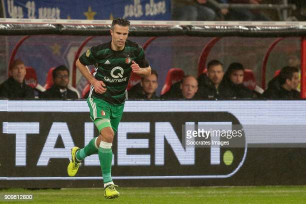 Robin van Persie of Feyenoord is entering the pitch during the Dutch Eredivisie match between FC Utrecht v Feyenoord at the Stadium Galgenwaard on...