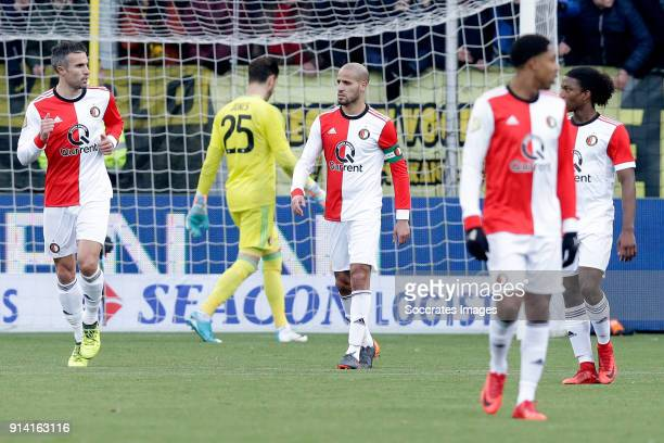 Robin van Persie of Feyenoord Karim El Ahmadi of Feyenoord Tyrell Malacia of Feyenoord Jean Paul Boetius of Feyenoord during the Dutch Eredivisie...