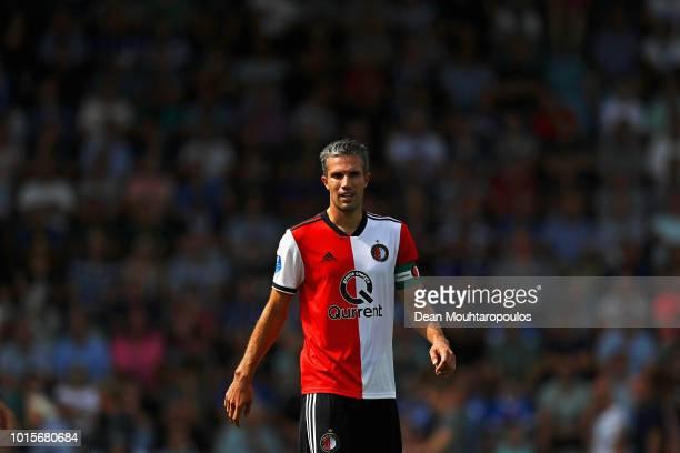 Robin van Persie of Feyenoord looks on during the Eredivisie match between De Graafschap and Feyenoord at Stadion De Vijverberg on August 12 2018 in...