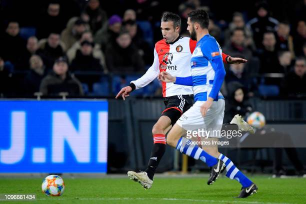 Robin van Persie of Feyenoord Sven Nieuwpoort of De Graafschap during the Dutch Eredivisie match between Feyenoord v De Graafschap at the Stadium...