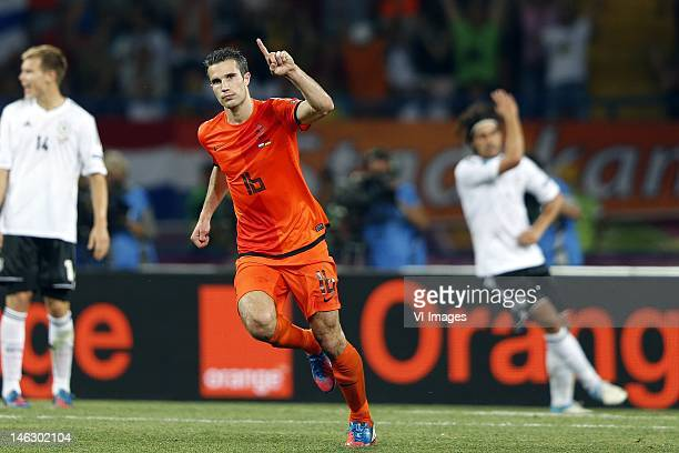 Robin van Persie of Holland during the UEFA EURO 2012 match between Netherlands and Germany at the Metalist Stadium on June 13, 2012 in Kharkov,...