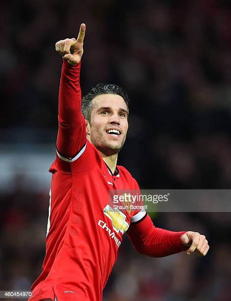 Van persie manchester united getty images robin van persie of manchester united celebrates scoring the third goal during the barclays premier league voltagebd Image collections