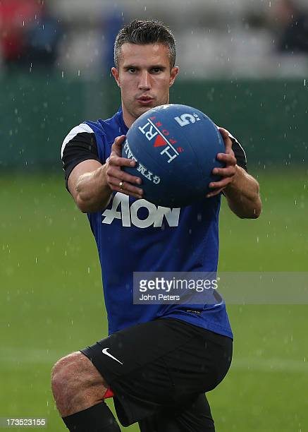 Robin van Persie of Manchester United in action during a first team training session at Kogarah as part of their preseason tour of Bangkok Australia...