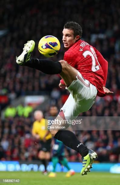 Robin van Persie of Manchester United in action during the Barclays Premier League match between Manchester United and Sunderland at Old Trafford on...