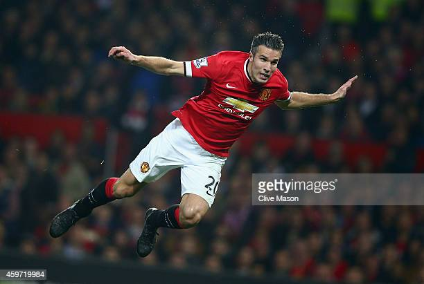 Robin van Persie of Manchester United in action during the Barclays Premier League match between Manchester United and Hull City at Old Trafford on...
