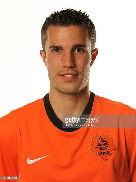 Robin van Persie of The Netherlands poses during the official FIFA World Cup 2010 portrait session on June 7 2010 in Johannesburg South Africa